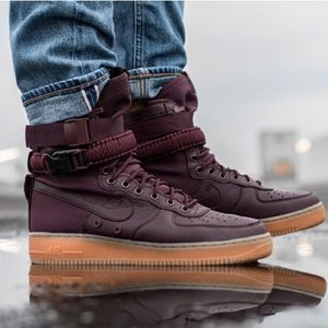 new product 321e1 03b1a Nike Shoes - Nike SF AF1 Deep Burgundy Mens Size 9.5
